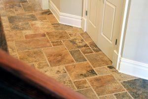 French Pattern CAPPADOCIA Brushed Travertine Tiles (Hallway)